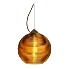 Besa Lighting Kristall Bronze Pendant Light