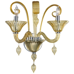 Cyan Design Treviso Chrome with Amber Sconce