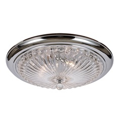 Crystorama Lighting Celina Polished Chrome Flushmount Light