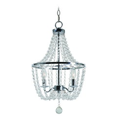 Celeste Chrome Crystal Chandelier by Kenroy Home
