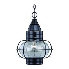 Seeded Glass Outdoor Hanging Light Bronze Vaxcel Lighting