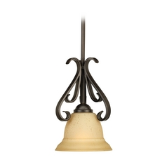 Progress Mini-Pendant Light with Beige / Cream Glass