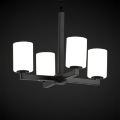 Justice Design Fusion 4-Light Mini Chandelier in Matte Black