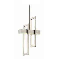 Modern LED Mini-Pendant Light in Brush Nickel Finish
