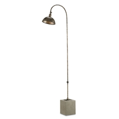 Currey and Company Lighting Bronze / Polished Concrete Floor Lamp
