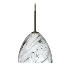 Besa Lighting Sasha Ii Satin Nickel LED Mini-Pendant Light
