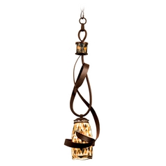 Kalco Lighting Monaco Antique Copper Mini-Pendant Light