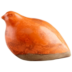 Cyan Design Partridge I Orange Sculpture