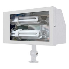 White Solid Brass Area Flood Light