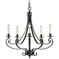 Chandelier in Liberty Bronze Finish