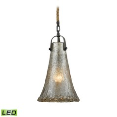 Mercury Glass LED Mini-Pendant Light Oil Rubbed Bronze Elk Lighting
