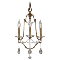 Mini-Chandelier Light in Oxidized Bronze Finish