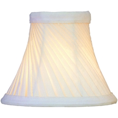 Pleated Eggshell Bell Lamp Shade with Clip-On Assembly