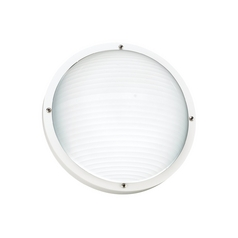 White Energy Star Round Bulkhead Marine Light