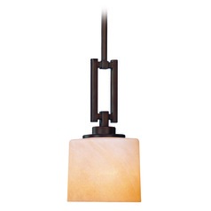 Mission Inspired Mini-Pendant Light in Bronze