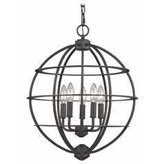 Orb Pendant Light in Bronze Finish
