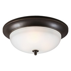 Sea Gull Lighting Humboldt Park Burled Iron Close To Ceiling Light
