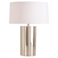 Arteriors Home Lighting Jensen Polished Nickel Table Lamp with Drum Shade
