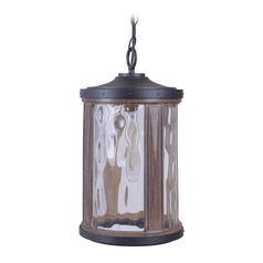 Craftmade Lighting Madera Textured Black / Whiskey Barrel Outdoor Hanging Light