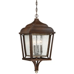Minka Astrapia Dark Rubbed Sienna with Aged Silver Outdoor Hanging Light