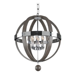Kalco Sharlow Chrome Pendant Light