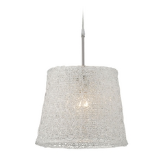 Lite Source Lighting Clare Pendant Light with Rectangle Shade