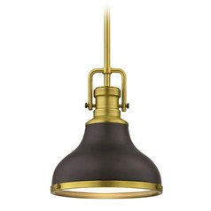 Farmhouse Small Pendant Light Bronze / Brass 8.63-Inch Wide  sc 1 st  Destination Lighting & Antique Brass Pendant Lights | Vintage Pendant Light Fixtures azcodes.com