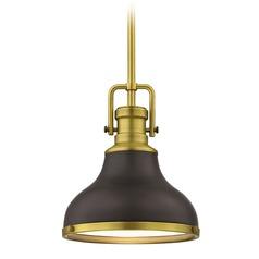 antique pendant lights. Farmhouse Small Pendant Light Bronze / Brass 8.63-Inch Wide Antique Lights