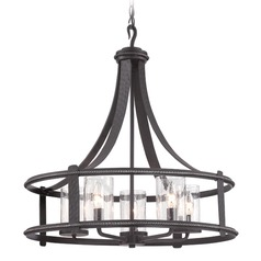 Seeded Glass Chandelier Black Designers Fountain Lighting