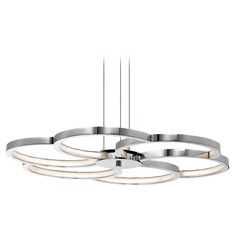Elan Lighting Kurli Chrome LED Pendant Light