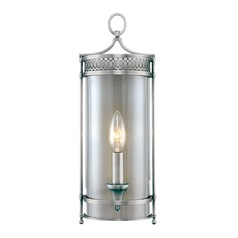 Sconce Wall Light with Clear Glass in Polished Nickel Finish