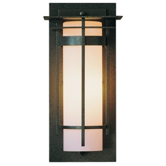 Outdoor Wall Light in Iron Finish - 12-1/2 Inches Tall
