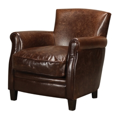 Sterling Lighting Mahogany / Dark Tan Chair