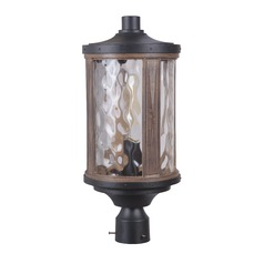 Craftmade Lighting Madera Textured Black / Whiskey Barrel Post Light