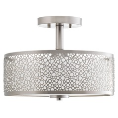 Progress Lighting Mingle LED Brushed Nickel LED Semi-Flushmount Light