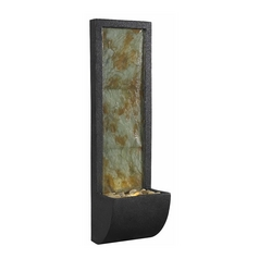 Modern LED Indoor Fountain in Natural Slate with Oil Rubbed Bronze Finish