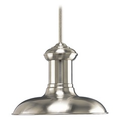 Barn Light LED Pendant Brushed Nickel 12-Inch Wide by Progress Lighting