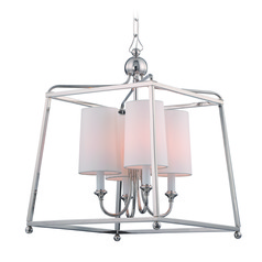 Crystorama Lighting Sylvan Polished Nickel Pendant Light with Cylindrical Shade