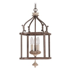 Capital Lighting Chateau French Oak Pendant Light