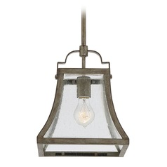 Square Seeded Glass Mini-Pendant Light Bronze Savoy House