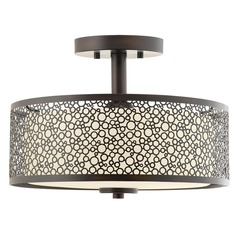 Progress Lighting Mingle LED Antique Bronze LED Semi-Flushmount Light