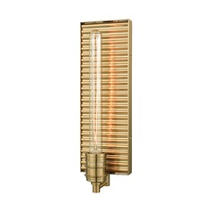 Elk Lighting Corrugated Steel Satin Brass Sconce