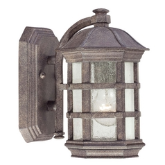 Minka Lighting Outdoor Wall Light with Clear Glass in Dark Sienna Finish 9271-277
