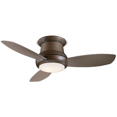 44-Inch Hugger Ceiling Fan with Three Blades and Light Kit