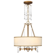 Frederick Ramond Bentley Brushed Bronze Pendant Light with Drum Shade