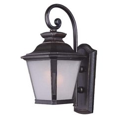 Frosted Seeded Glass Outdoor Wall Light Bronze Maxim Lighting