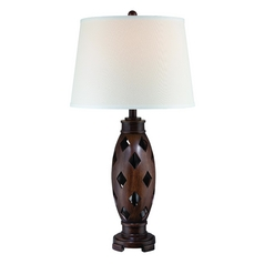 Lite Source Lighting Norah Dark Walnut Table Lamp with Drum Shade