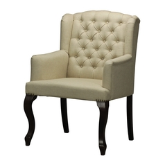 Sterling Lighting Mahogany / Cream Chair