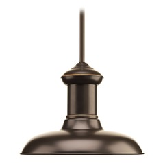 Barn Light LED Pendant Antique Bronze 12-Inch Wide by Progress Lighting