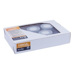 Maxim Lighting Countermax Mx-Ld-Kit Brushed Aluminum 2.75-Inch LED Under Cabinet Puck Light